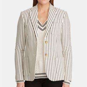 LAUREN RALPH LAUREN Striped Knit Blazer #N10